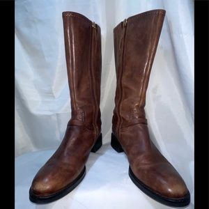 ECCO Hobart Harness Equestrian Brown Leather Boot